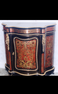Boule Cabinet With Ornate Inlay