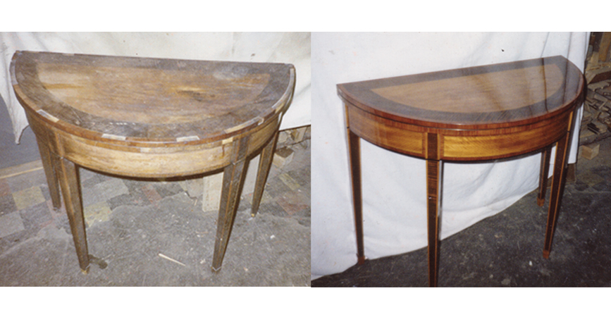 Photo of restored side table