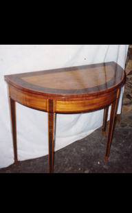 Restored Semi-Circle Table